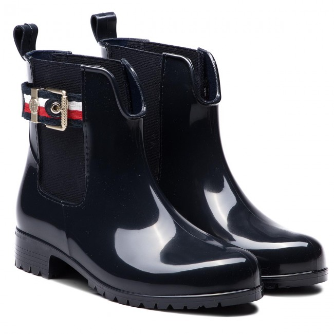 45ee04c0d70494 Wellingtons TOMMY HILFIGER - Corporate Belt Rain FW0FW03329 Midnight 403 -  Wellingtons - High boots and others - Women s shoes - www.efootwear.eu