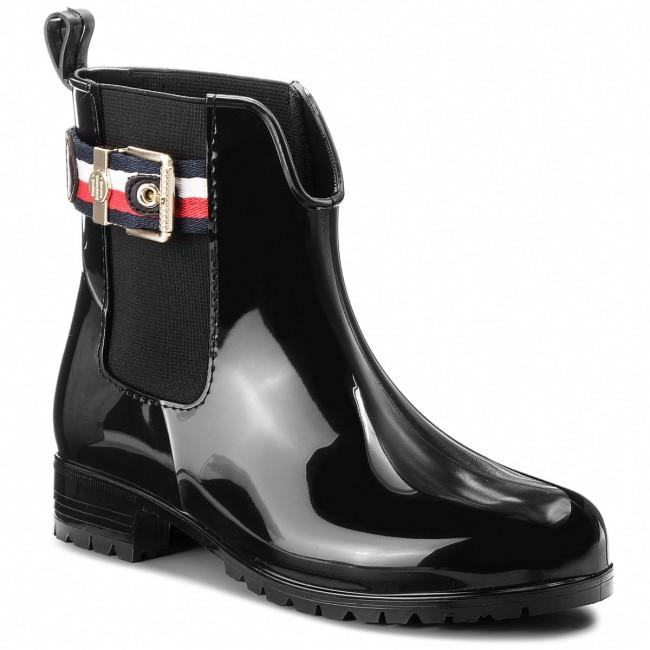 0f94eaf91d6b Wellingtons TOMMY HILFIGER - Corporate Belt Rain FW0FW03329 Black ...