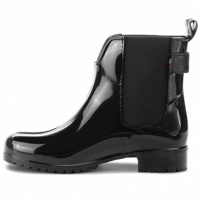0528874b28e74 Wellingtons TOMMY HILFIGER - Corporate Belt Rain FW0FW03329 Black 990 -  Wellingtons - High boots and others - Women's shoes - www.efootwear.eu