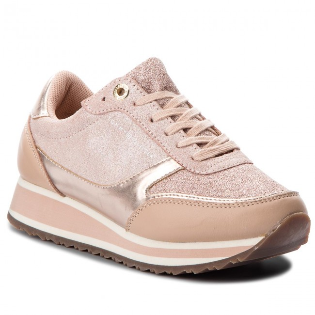 8cba2af57 Sneakers TOMMY HILFIGER - Metallic Retro Runner FW0FW03337 Mahogany ...