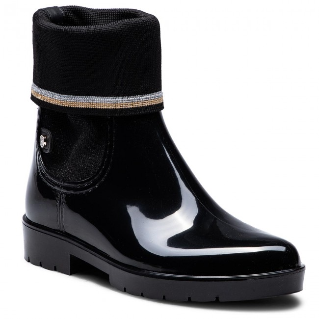 b298037aa91 Wellingtons TOMMY HILFIGER - Knitted Sock Rain Bo FW0FW03565 Black ...