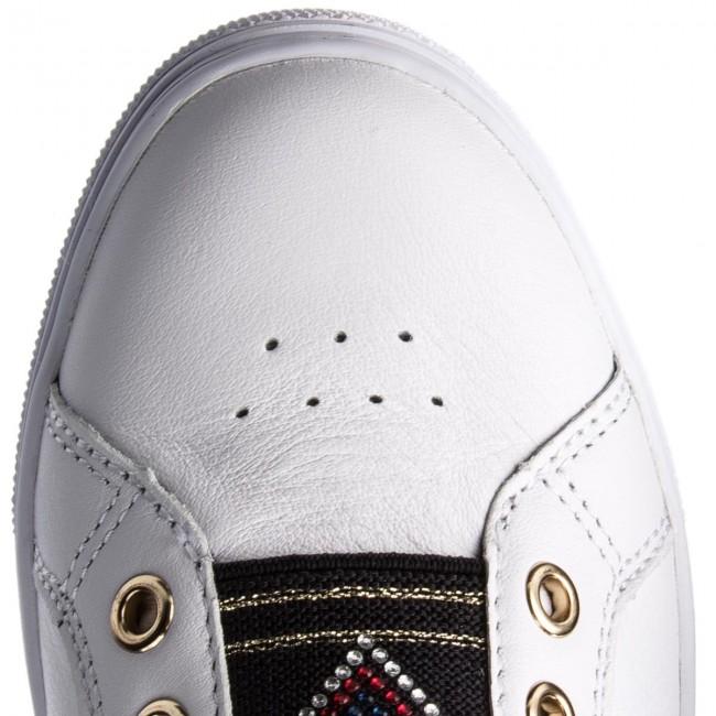 abe82b3d8d9a2 Sneakers TOMMY HILFIGER - Stud Elastic Essential Sneaker FW0FW03592 White  100 - Sneakers - Low shoes - Women s shoes - www.efootwear.eu