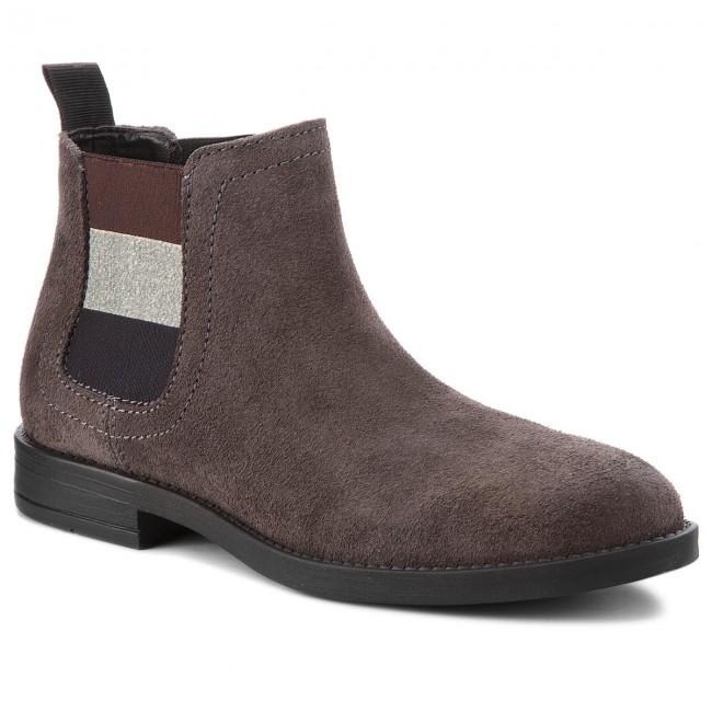 6db44eccc Ankle Boots TOMMY JEANS - Essential Chelsea Bo EN0EN00305 Steel Grey ...