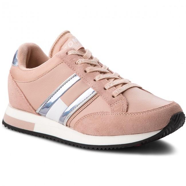 Sneakers TOMMY JEANS - Casual Retro Sneaker EN0EN00317 Mohogany Rose ... ff7b46a7085