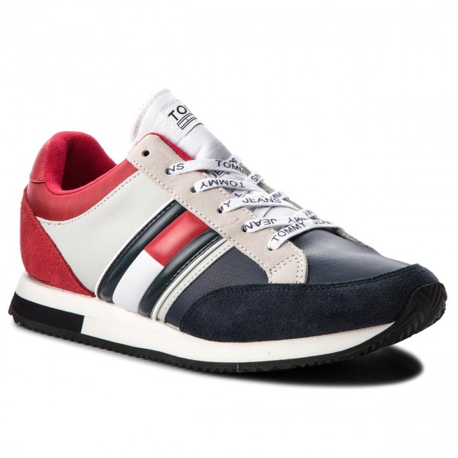 059b02d77f40 Sneakers TOMMY JEANS - Casual Retro Sneaker EM0EM00112 Rwb 020 ...