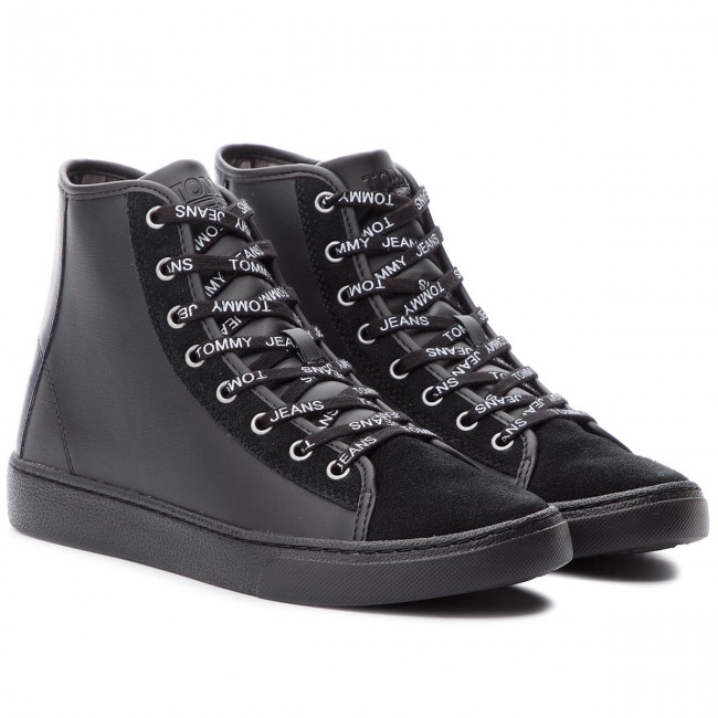 Mix Light Sneakers Tommy 990 Em0em00125 Black Mid Jeans WIEHYe92D