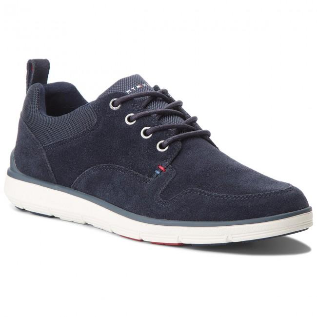 f7e77026c Sneakers TOMMY HILFIGER - Lightweight Suede Mix Shoe FM0FM01740 Midnight 403