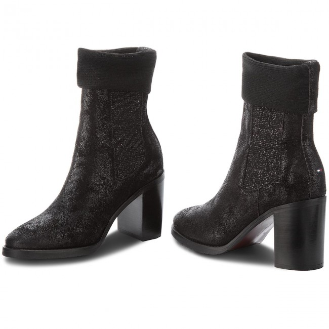 c38329fbab25c Boots TOMMY HILFIGER - Knitted Sock Heeled FW0FW03127 Black 990 ...