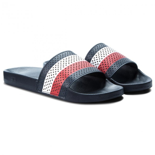 6b4a85c685a59c Slides TOMMY HILFIGER - Pool Slide FM0FM01830 Midnight 403 - Clogs and  mules - Mules and sandals - Men s shoes - www.efootwear.eu