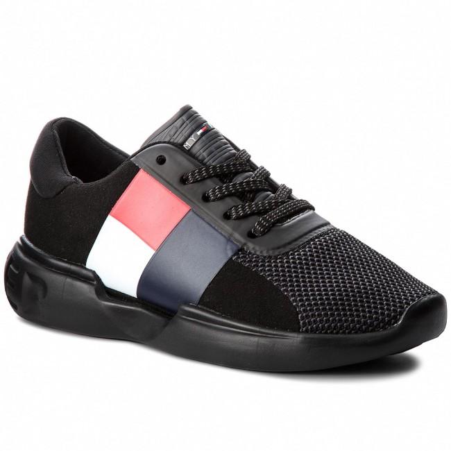 6af0fefea9eaf Sneakers TOMMY HILFIGER - Lightweight Hilfiger Wmn Sneaker FW0FW03461 Black  990