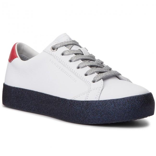 08218e0a73be2 Sneakers TOMMY HILFIGER - Glitter Dress Sneaker FW0FW03618 Rwb 020 ...