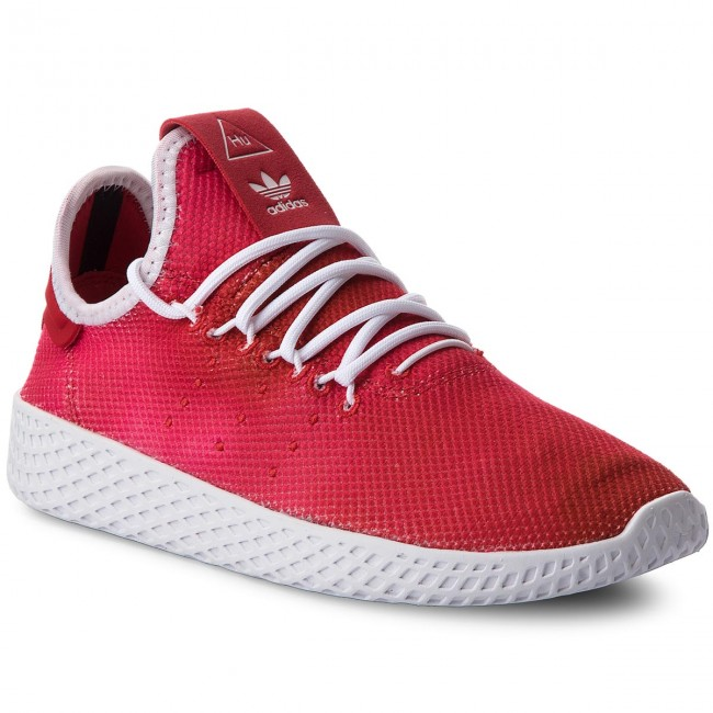 86510e04b1904 Shoes adidas - Pw Tennis Hu J CQ2301 Scarle Ftwwht Ftwwht - Sneakers ...