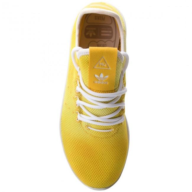 Shoes adidas - Pw Hu Holi Tennis Hu DA9617 Yellow Ftwr White Ftwr White Ftwr  White - Sneakers - Low shoes - Women s shoes - www.efootwear.eu 2d0c7cc05ca