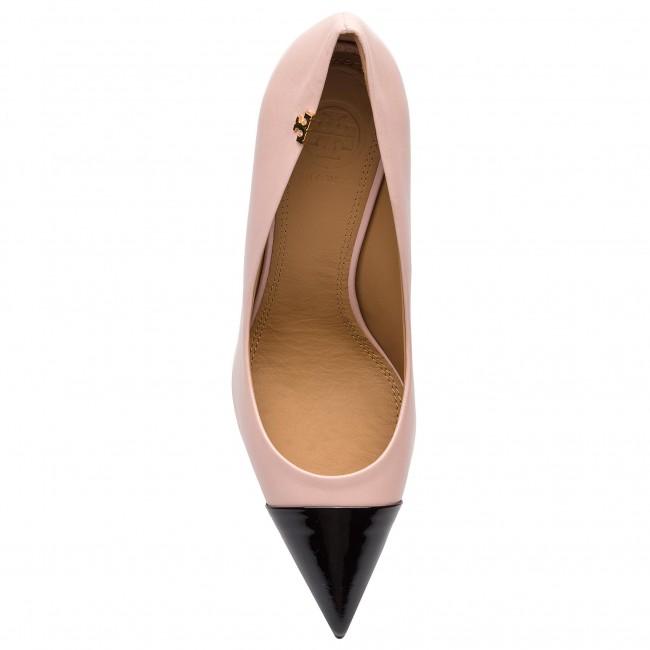 5636a05c897db Stilettos TORY BURCH - Penelope 85mm Cap-Toe Pump 51437 Sea Shell  Pink Perfect Black 677 - Stilettos - Low shoes - Women s shoes -  www.efootwear.eu