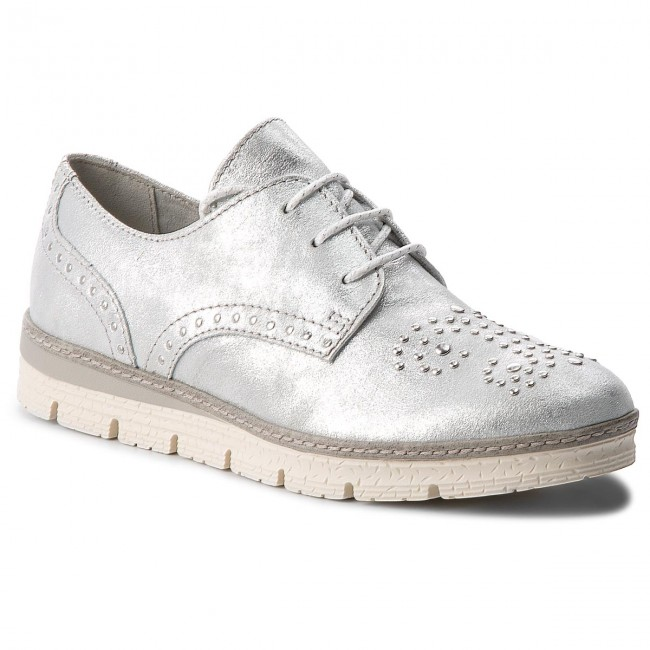 Oxfords MARCO TOZZI - 2-23706-20 Silver 941 - Oxfords - Low shoes ... f9ac4389cb
