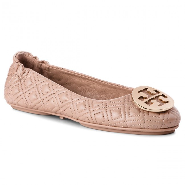 1863e5d4545 Flats TORY BURCH - Quilted Minnie 50736 Goan Sand Gold 250 ...