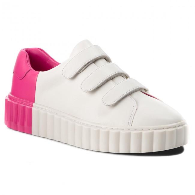 cdfe8998e02100 Sneakers TORY BURCH - Scallop Triple Strap Sneaker 51461 Snow White Crazy  Pink 102