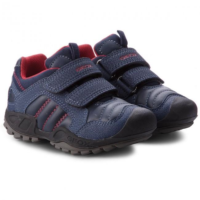 Shoes GEOX J N. Savage B. A. J841VA 054CE C0735 M NavyRed