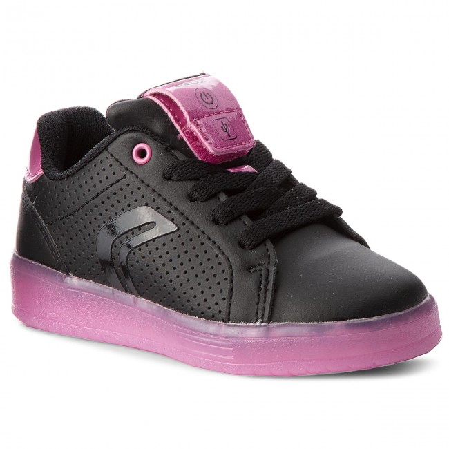 Shoes GEOX - J Kommodor G. A J744HA 000BC C0922 Black Fuchsia ... 7beb07308b3