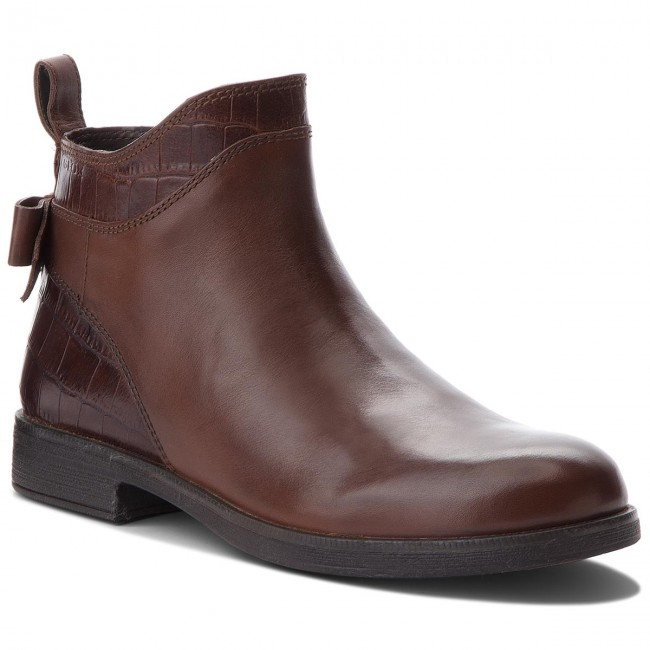 01d0e6d2db331 Boots GEOX - J Agata B J8449B 0436Y C6777 Tobacco - Boots - High ...