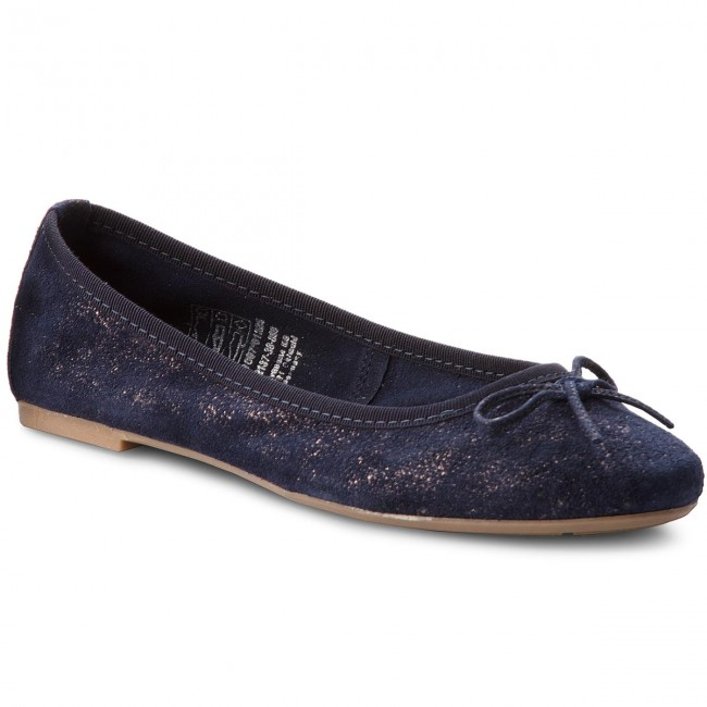 Ballerinas TAMARIS - 1-22137-30 Navy/Pewter 861