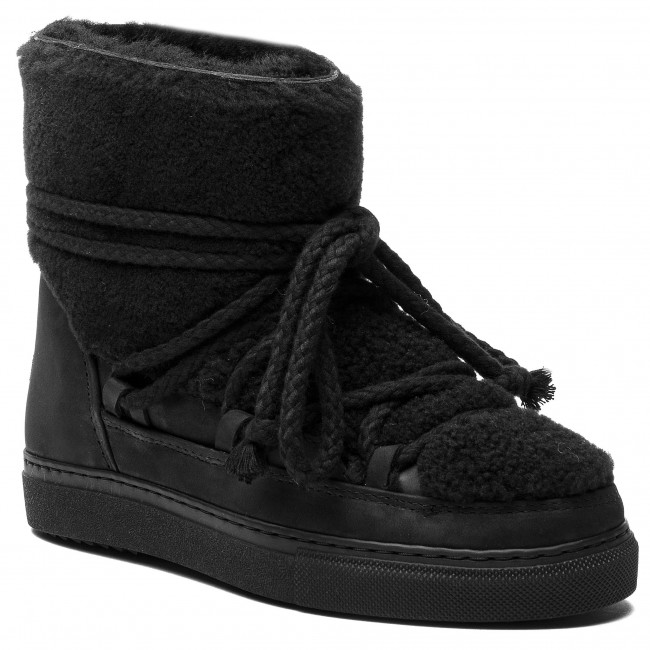 16 Winter Shoes 70202 Curly INUIKII Sneaker Cot Laces Black Blk 77qAI4nxwS