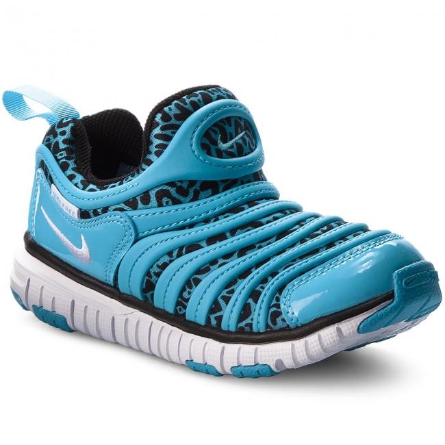 Shoes NIKE - Dynamo Free Print (PS) 834365 402 Blue Gale Black White ... 2688f4a4c