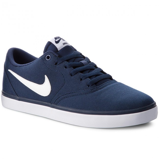 first rate 266f0 6ebeb Shoes NIKE. Sb Check Solar Cnvs 843896 400 Midnight Navy White