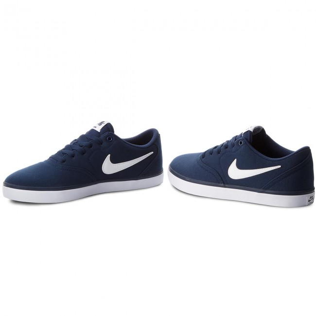 Shoes Nike Sb Check Solar Cnvs 843896 400 Midnight Navy White Sneakers Low Shoes Men S Shoes Efootwear Eu