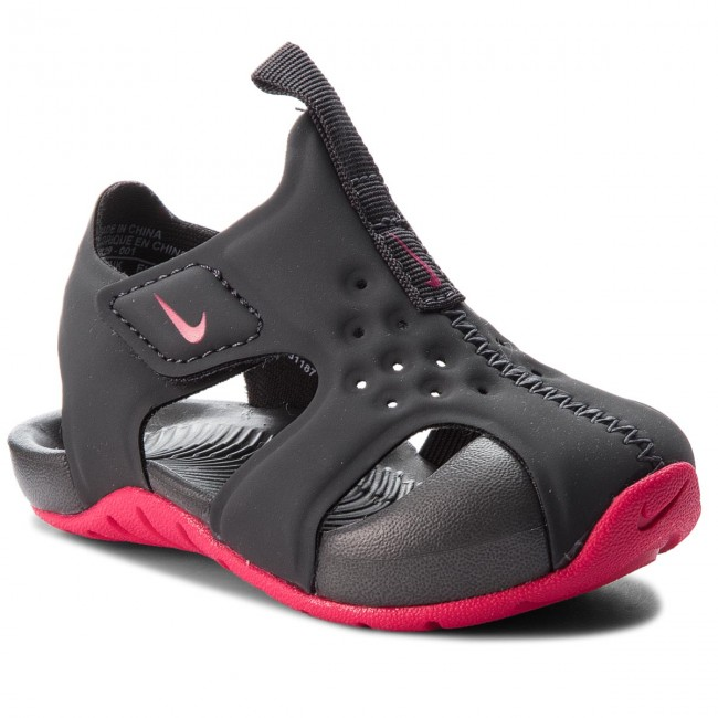 056136761ba9ee Sandals NIKE - Sunray Protect 2 (TD) 943829 001 Anthracite Rush Pink ...