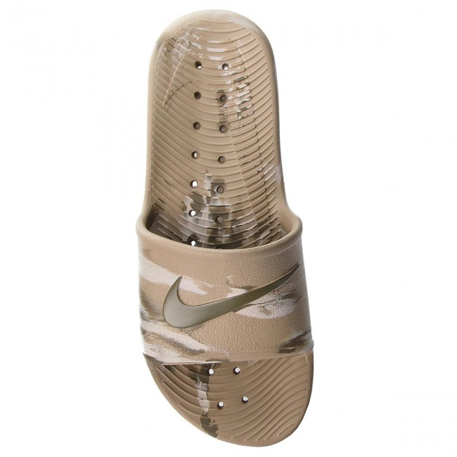 3e91008ca232 Slides NIKE - Kawa Shower Marble AQ0106 200 Khaki Medium Olive Desert Sand  - Clogs and mules - Mules and sandals - Men s shoes - www.efootwear.eu