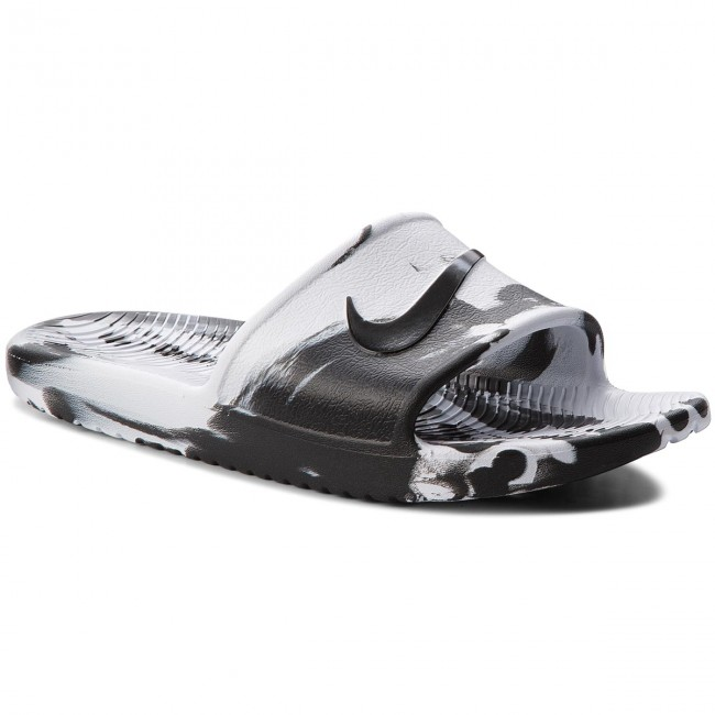 e52fedcdec576 Slides NIKE - Kawa Shower Marble AQ0106 100 White Black White ...