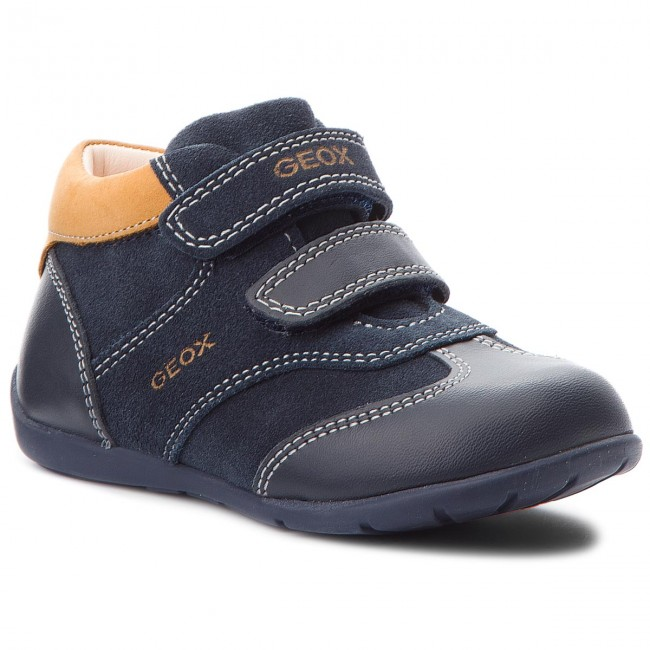 33f3919c1b7 Boots GEOX - B Kaytan B. A B8250A 02285 CF45B Navy/Biscuit - Boots ...