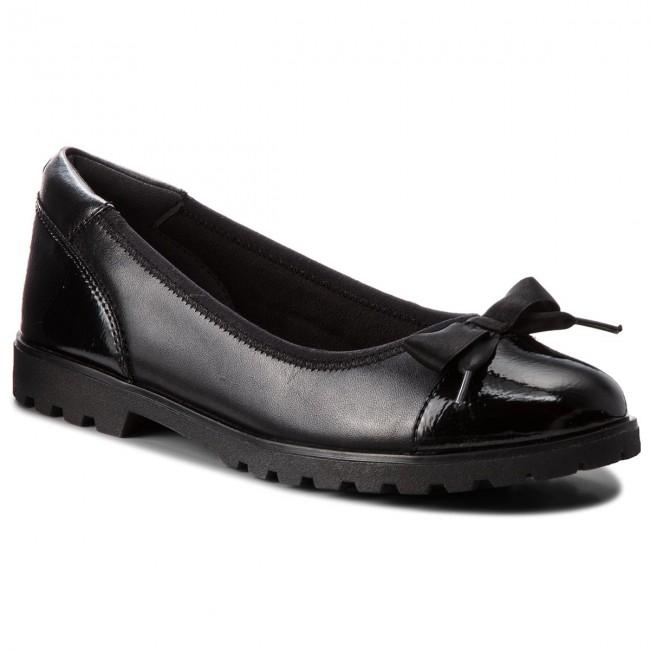 Black Low Flats 22100 098 1 21 Comb TAMARIS Shoes shoes 8w7q4I4