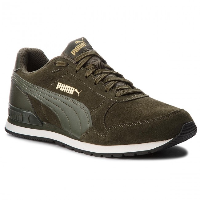 Sneakers PUMA - St Runner V2 Sd 365279 04 Forest Night/Forest Night/Wh