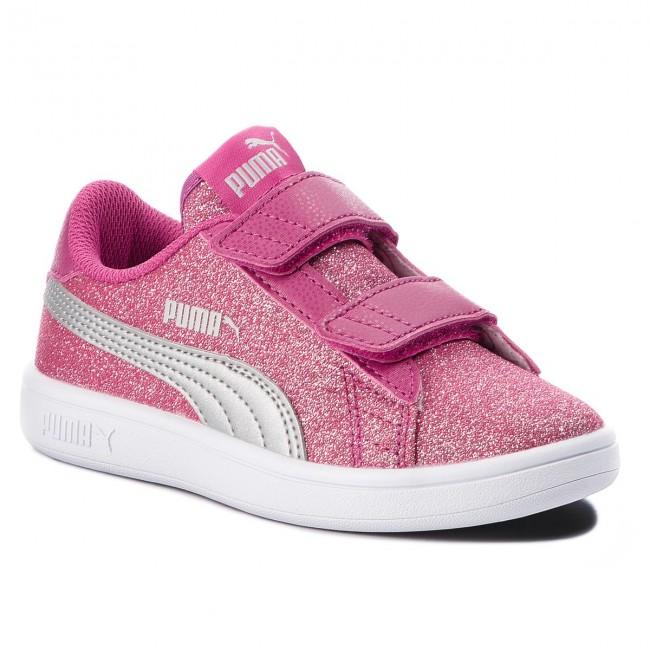Sneakers PUMA - Smash V2 Glitz Glam V Ps 367378 03 Magenta Haze Puma Silver 9e591bcf6