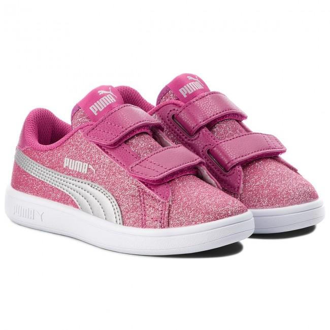 1fa8dc81ba4789 Sneakers PUMA - Smash V2 Glitz Glam V Ps 367378 03 Magenta Haze Puma Silver  - Velcro - Low shoes - Girl - Kids  shoes - www.efootwear.eu