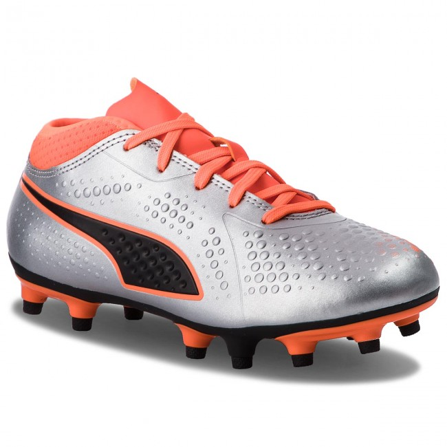 a77a49b9b Shoes PUMA - One 4 Syn Fg Jr 104782 01 Silver/Orange/Black - Laced ...