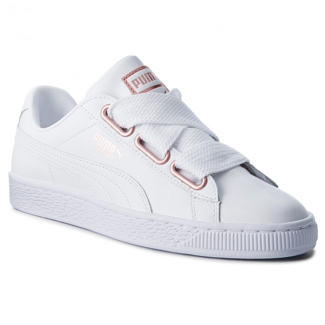 3c5be0a9893d50 Sneakers PUMA - Basket Heart Leather 367817 01 Puma White Rose Gold ...