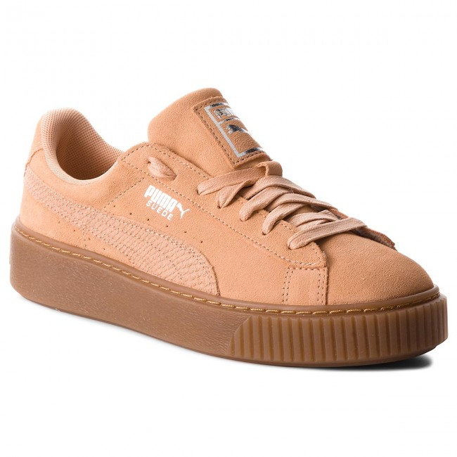separation shoes c1b30 0bd78 Sneakers PUMA - Suede Platform Animal 365109 Dusty Coral Puma Silver -  Sneakers - Low shoes - Women s shoes - efootwear.eu