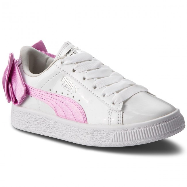 a186c106526a48 Sneakers PUMA - Basket Bow Patent Ac Ps 367622 02 Puma White Orchid Gray