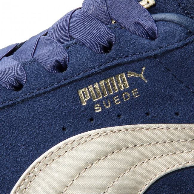 521debc370bd24 Sneakers PUMA - Suede Bow Varsity Wn s 367732 02 Peacoat Metallic Gold