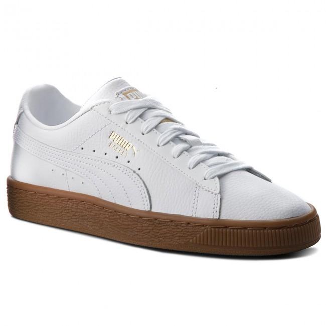 Sneakers PUMA - Basket Classic Gum Jr 366668 02 Puma White/Metallic Gold