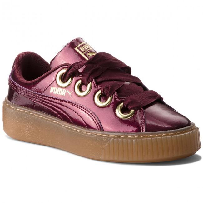 5519353373db Sneakers PUMA - Basket Platform Kiss Anodized Jr 366822 01 Fig Puma ...