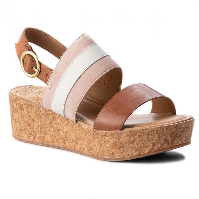 5100c67c568ff Sandals GANT - Judith 16563511 Sil.Pink Cre. Tan G586 - Wedges ...