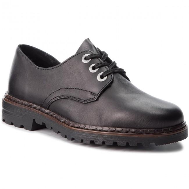 Women's 02 Schwarz RIEKER shoes Low Oxfords Oxfords 54809 w67nq0