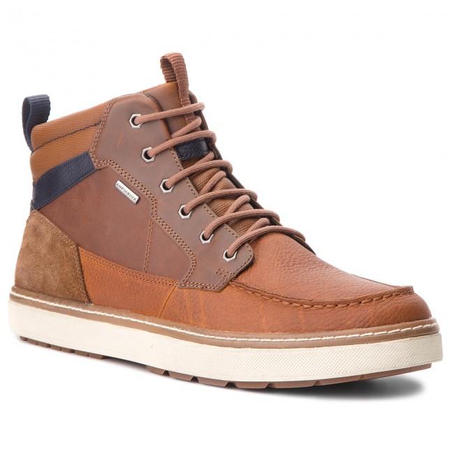 Descripción escocés Derribar  Boots GEOX - U Mattias B Abx B U84T1B 046EK C6GF4 Browncotto/Navy - Boots -  High boots and others - Men's shoes | efootwear.eu