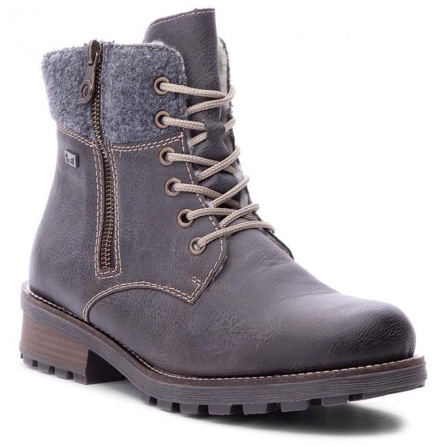 24aae4a38273 Hiking Boots RIEKER - Z0441-45 Grau Kombi - Trekker boots - High ...