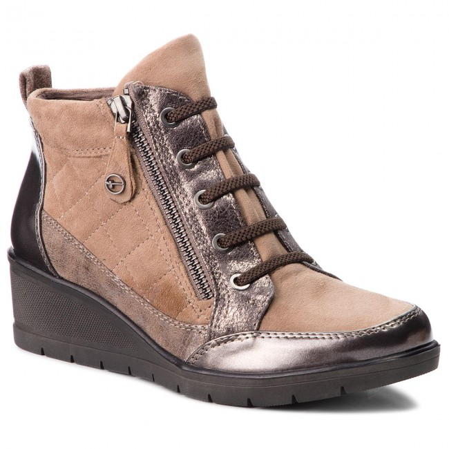 1897cc28da Boots TAMARIS - 1-25224-21 Taupe Comb 344 - Boots - High boots and ...