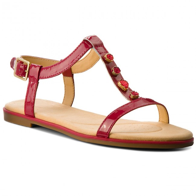 b039ee29f06fd Sandals CLARKS - Bay Blossom 261319444 Fuchsia Patent - Casual sandals -  Sandals - Mules and sandals - Women's shoes - efootwear.eu